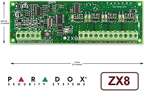 ZX8 Expansion Module 8-Zone Paradox Security Alarm System
