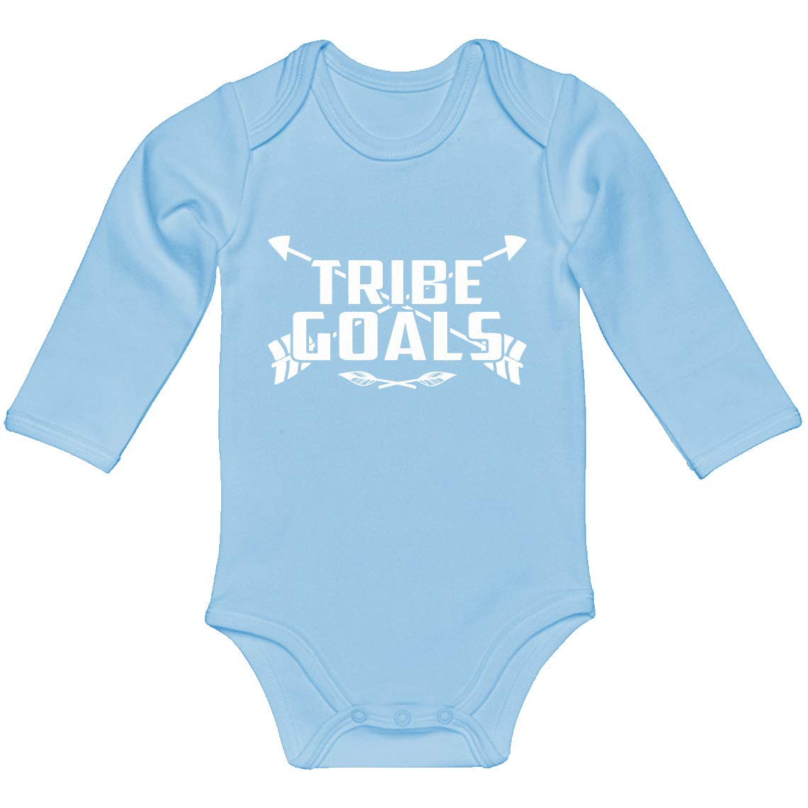 Baby Romper Tribe Goals 100/% Cotton Long Sleeve Infant Bodysuit