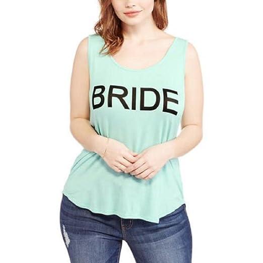 d7a7f55edeca6 AH Bride Twist-Back Tank Top Plus Size Hi-Lo Hem - Wedding Bachelorette