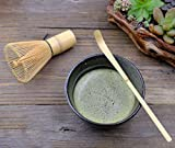 Matcha Whisk Set まっちゃ 抹茶 - Brush + Ceramic Bowl + Scoop / 八十本立 Japanese Green Tea Bamboo Preparing Tool 3 Piece Set