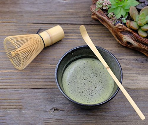 Matcha Whisk Set まっちゃ 抹茶 - Brush + Ceramic Bowl + Scoop / 八十本立 Japanese Green Tea Bamboo Preparing Tool 3 Piece Set by We pay your sales tax
