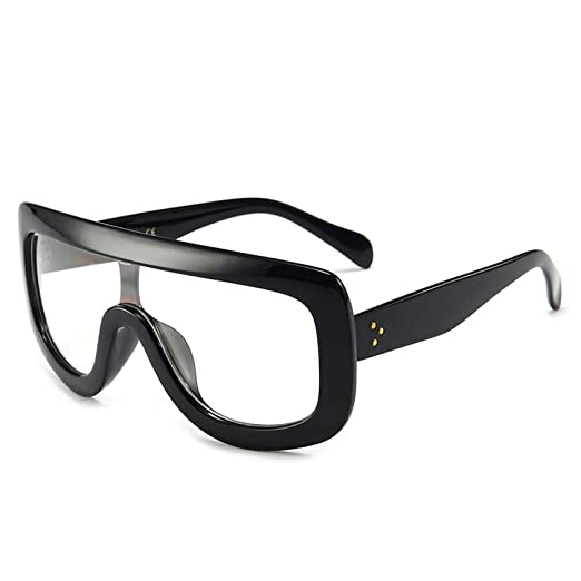 Yangjing-hl Gafas de Sol siamesas de Gran tamaño para Damas ...