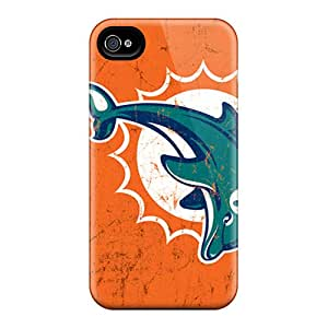 Shockproof Hard Phone Covers For Iphone 6plus With Provide Private Custom Vivid Miami Dolphins Image InesWeldon