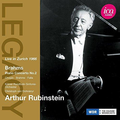 Arthur Rubinstein - Brahms: Piano Concerto No. 2, and at Nijmegen  Rhapsody, Capriccio/ Chopin: Nocturne/ Waltz, Falla: Danza ritual del fuego (Fire Dance, from El Amor - Arthur Piano Rubinstein
