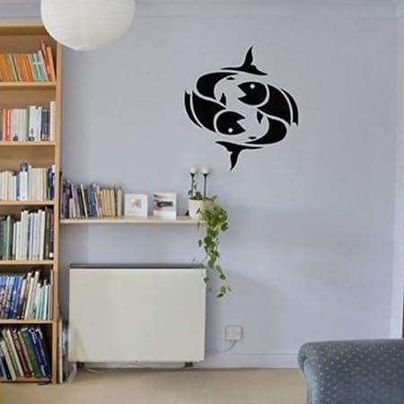 jiuyaomai Tattoo Star Sign Picture Fish Zodiac Vinyl Pegatinas de ...
