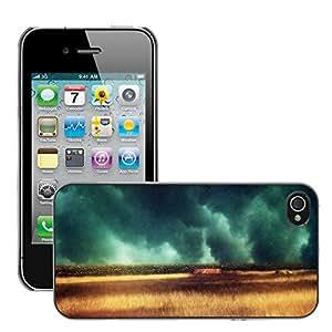 Super Stellar Slim PC Hard Case Cover Skin Armor Shell Protection // M00053151 dark raining aero field creative // Apple iPhone 4 4S