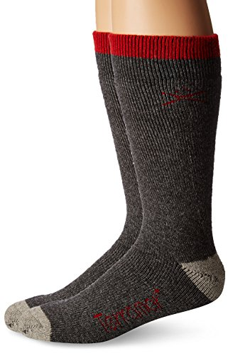 (Terramar Thermawool Sub Zero Mid Calf Socks (Pack of 2), Dark Charcoal, Large/9-12)