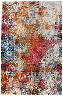 product image for Capel Flame-Alonso Multi 3' x 5' Rectangle Machine Woven Rug