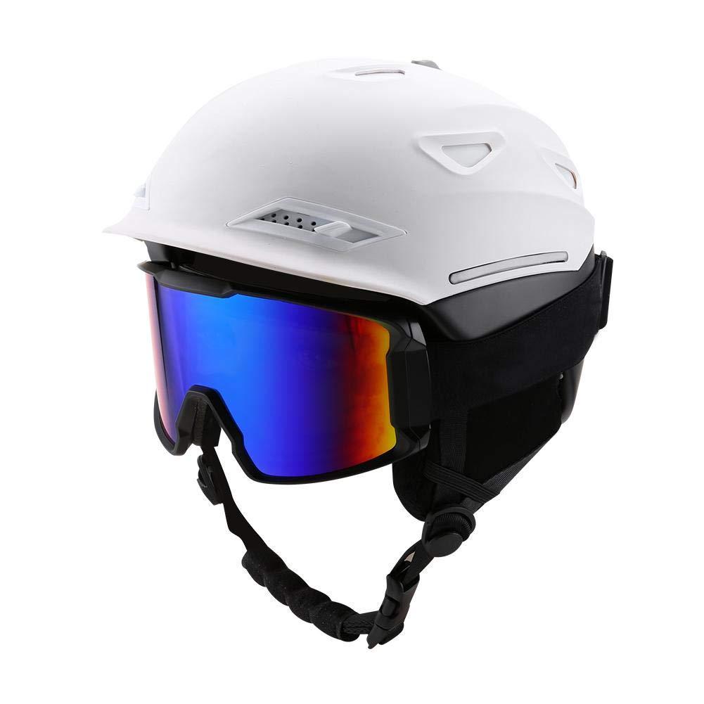 Casco de Esquí, Unisex Adultos Deportes de Nieve Casco de Protección de Snowboard de Esquí + Gafas contra Ranas(# 08) Unisex Adultos Deportes de Nieve Casco de Protección de Snowboard de Esquí + Gafas contra Ranas(# 08) Dioche