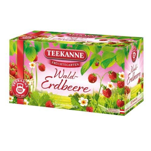 Teekanne Früchtegarten Walderdbeere 20 Beutel, 6er Pack (6 x 60 g)