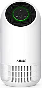 Afloia Air Purifier,Portable Air Purifier for Home, Air Cleaner with True HEPA Filters, 3 Fan Speed Whisper Quiet Air Cleaner for Dust Pollen Smoke Household Odors Mold Smoke, No Ozone,White