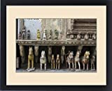 Framed Print of Asia,India,Rajasthan, Udaipur, terra cotta horses and figurines in city center