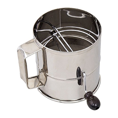 Browne (1260) 8-Cup Stainless Steel Flour Sifter by Browne Foodservice