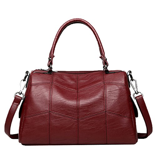 Women For Hand Shoulder Set Red Bags Handbag Leather High Bag ORW74g