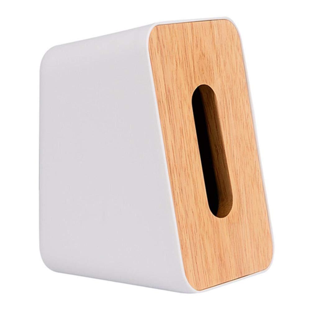 cuckoo-X Caja dispensadora de pa/ñuelos multifunci/ón dise/ño Sencillo de Estilo Europeo Hecha de pl/ástico ABS y Madera