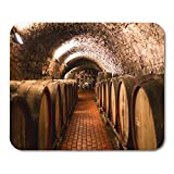 """Semtomn Mouse Pad Old Aged Traditional Wooden Barrels Wine in Vault Lined Mousepad 9.8"""" x 7.9"""" for Notebooks,Desktop Computers Mouse Mats, Office Supplies"""