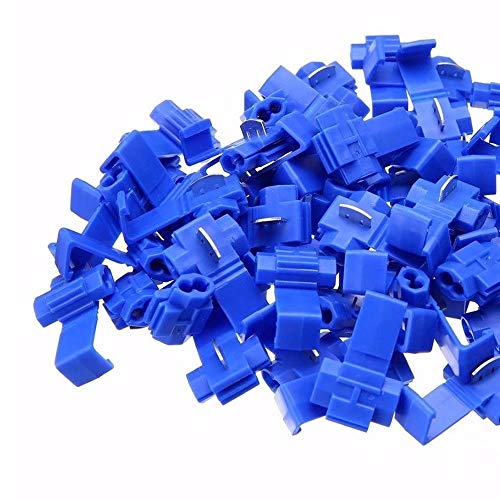 G·PEH 125 Solderless Quick Splice Snap Wire Connector, 50 pcs crimson 22 Through 18 Gauge,50 pcs Blue 16 Through 14 Gauge,25 pcs Yellow 12 Through 10 Gauge