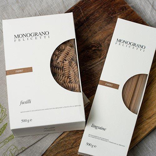 Felicetti Organic Farro Pasta - Fusilli (17.64 ounce) (Cybercucina Pasta)
