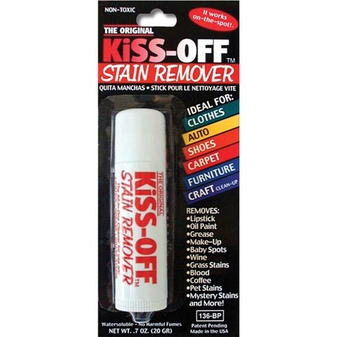 Amazon.com: Kiss Off Stain Remover For Lipstick, Grease, Grass Stains, Blood, Oil Paint, Food, Make-Up, & Mystery Stains, 2 Pcs: Arts, Crafts & Sewing
