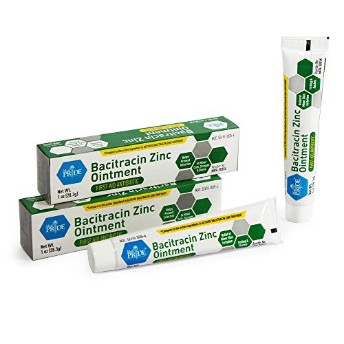 Medpride Antibiotic Ointment| Bacitracin Zinc Ointment| Essential Antibiotic First-Aid Supplies for Home| Relief for Chaffing, Diaper Rash, Dermatitis, Eczema, Itchy/Dry Skin| 1 Oz Tube| 2 Pack