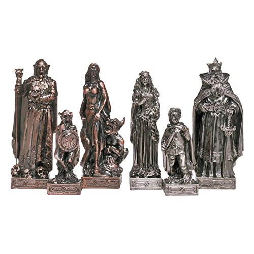 Chess Copper (Design Toscano Mystical Legends Chess Pieces in Faux Silver and Copper)