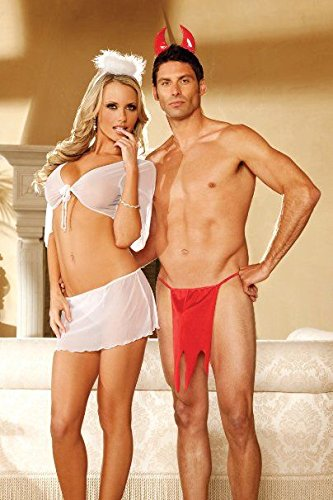 Angel and Devil Couple Costume Cosplay Lingerie -