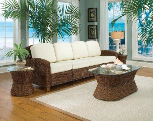 Home Styles 5402-63 Cabana Banana Four Section Sofa, Cocoa Finish