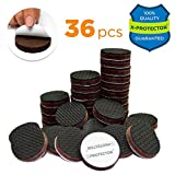 "Best Furniture Pads for Hardwood Floors FURNITURE GRIPPERS X-PROTECTOR – PREMIUM 36 pcs 1"" Furniture Pad! Best Non Slip Furniture Pads Rubber Feet - Furniture Floor Protectors for Keep in Place Furniture & Furniture Stoppers"