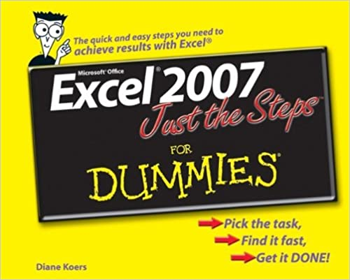 read e book online excel 2007 just the steps for dummies pdf note