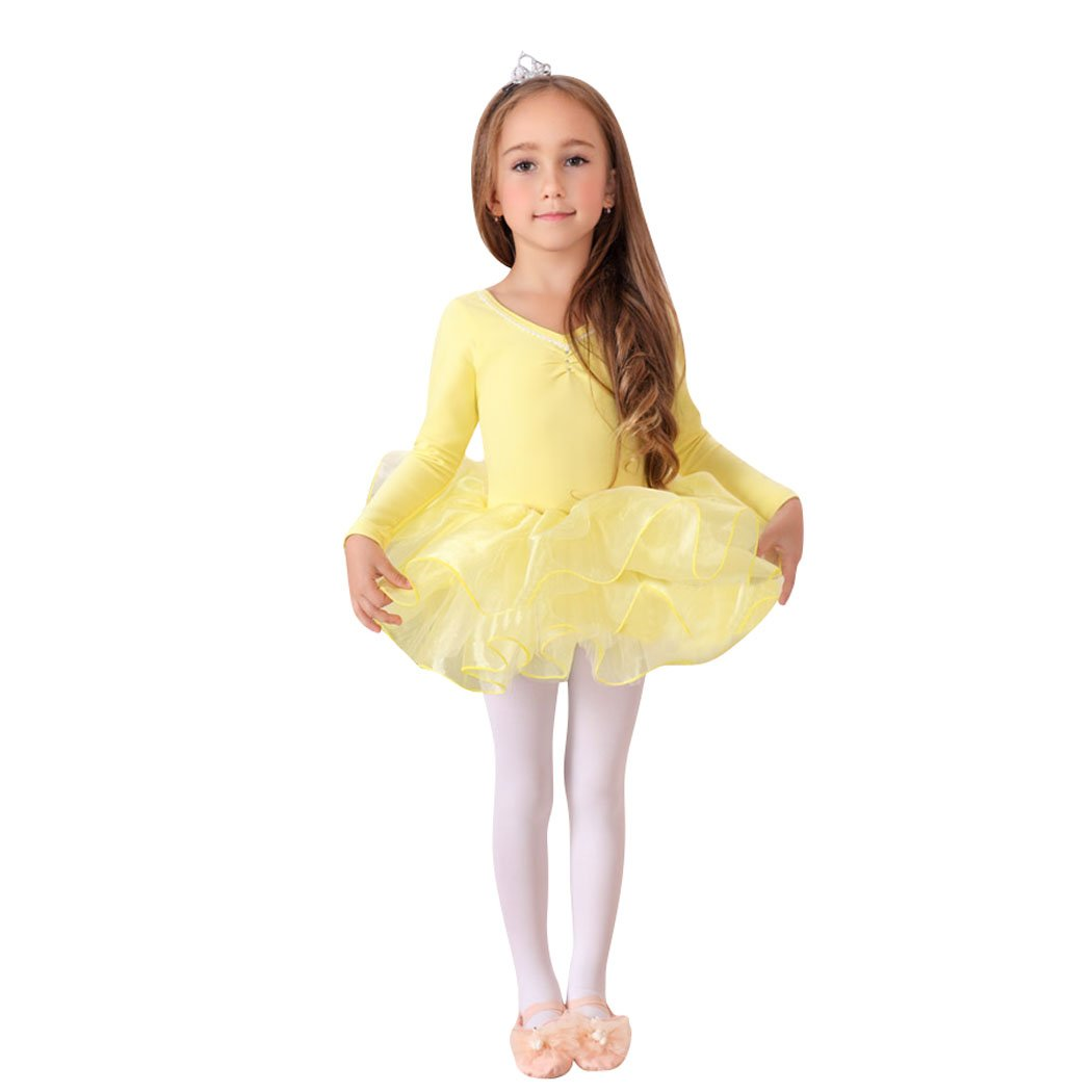 Geschenk-Idee! Prinzessin Design langen Ärmeln zweiteilige Ballett-Ballettröckchen -Kleid, Größe 4-8 , Preis / Stück Größe 4-8 Preis / Stück Hoter R-G-2BRD-1074