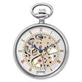 Gotham Men's Silver-Tone Mechanical Pocket Watch with Desktop Stand # GWC14052S-ST, Watch Central