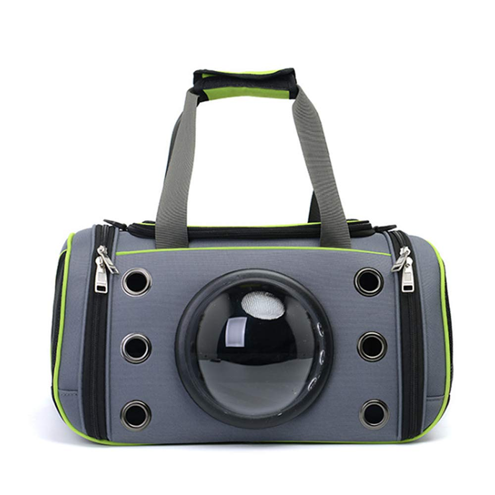 Green Large Green Large Jnzr Pet Travel Backpack, Pet Travel Shoulder Bag Foldable Cat And Dog Portable Rucksack Multifaceted Breathable Mesh Light And Breathable With Adjustable Shoulder Strap,green,Large