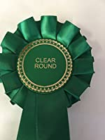 25 x Clear Round Rosettes
