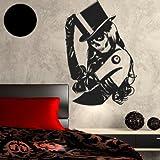 """A762 Wandtattoo """"Skull Girl"""" Gothic 88cm x 60cm schwarz (erhältlich in 40 Farben)"""