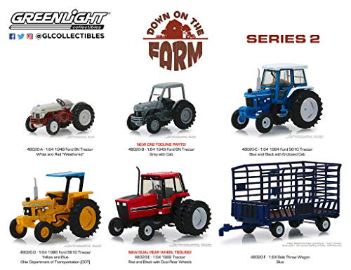 New DIECAST Toys CAR Greenlight 1:64 Down ON The Farm Series 2 Assortment (6 Styles) Set of 6 48020 ()