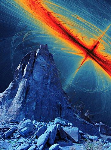 Alien Landscape Solar Flare Large Poster Print