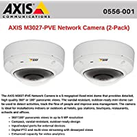 AXIS M3027-PVE (2-Pack) Network Camera Outdoor-ready dome with Panoramic Views