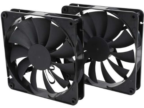 140mm Case Fan 2-Pack Computer Case Fan with Advanced Fluid Dynamic Bearing for Ultra Quietness and Silent Operation Standard 140 mm Case Fan 2 Pack with 3 Pin & Molex/LP4 Connectors by Rosewill