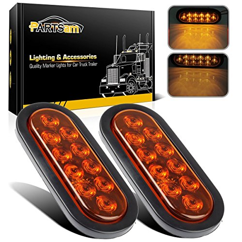 AMBER LED Trailer Tail Lights 10 LED, 6