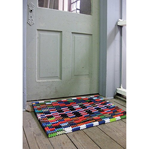 Rectangle Welcome Mat - Reclaimed Flip-Flop Door Mat Rectangle Welcome Mat - Easy Clean Durable Sturdy
