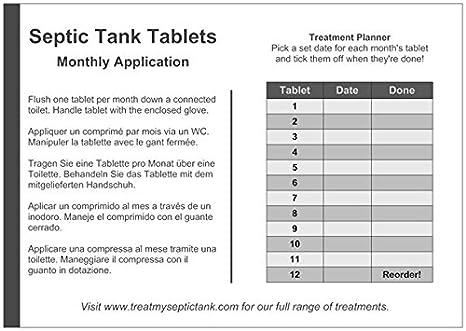 Tabletas de bacterias para fosas sépticas - Suministro para un año