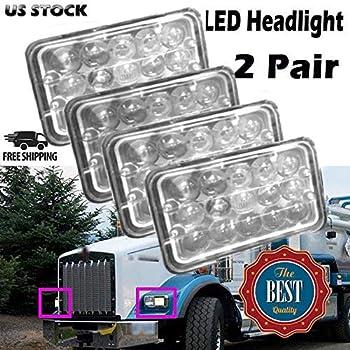 led headlights with bezel lh and rh fit. Black Bedroom Furniture Sets. Home Design Ideas