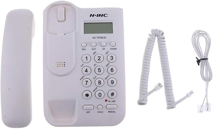 Teléfono Fijo con Cable para el hogar, Oficina, Hotel, Pared, Oficina, teléfono con Cable: Amazon.es: Electrónica