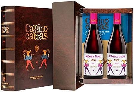 CAMINO DE CABRAS Estuche de vino - Mencía - vino tinto – D.O. Ribeira Sacra – Producto Gourmet - Vino para regalar - Vino Premium - 2 botellas x 750 ml.