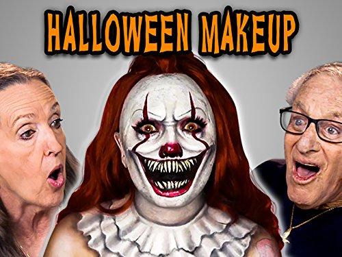 Elders React to Halloween Makeup Transformations -