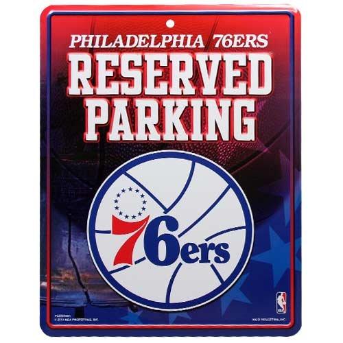 NBA Philadelphia 76ers Hi-Res Metal Parking Sign