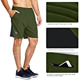 "Baleaf Men's 7"" Quick Dry Workout Running Shorts"