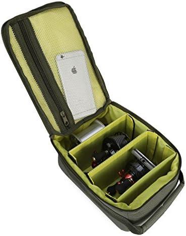 Huntvp Fishing Reel Bag Portable Outdoor Fishing Reel & Gear Bag Carry Storage Water-Resistant Fishing Tackle Bags