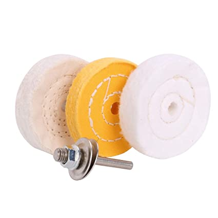 Brilliant 3 Inch Ultra Fine Cotton 1 Treated Yellow Cotton 1 Fine Cotton 1 Buffing Polishing Wheel 2 5 Inch Arbor Hole For Mini Bench Grinder With One 1 4 Ibusinesslaw Wood Chair Design Ideas Ibusinesslaworg