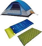 Alpinizmo High Peak USA Florida 20 Sleeping Bag Magadi 5 Tent Combo Set, Green/Blue, One Size